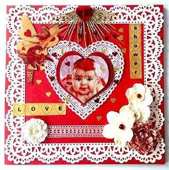 Craft Attitude - Mixed Media Monday: Valentine's Inspiration