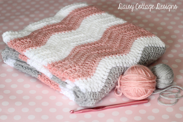 Free Crochet Pattern For Baby Ripple Afghan : Craft Attitude - Free Crochet Pattern: Ripple Baby Blanket
