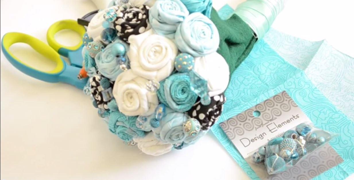 Craft Attitude - How to Make a Fabric Flower Bouquet