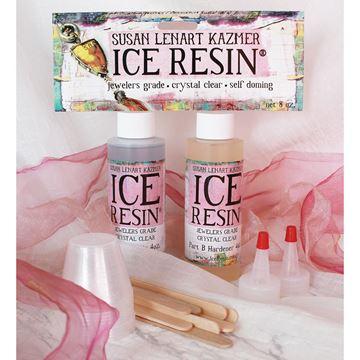 Picture of ICE Resin 8oz Doming Kit-4oz Resin, 4oz Hardener, Cups & Sticks
