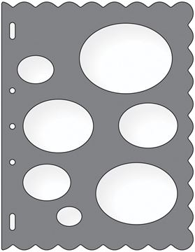 """Picture of Shape Template 8.5""""X11""""-Ovals"""