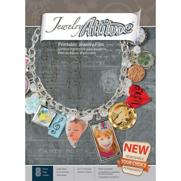 "Picture of Jewelry Attitude 8.5""X11"" Sheets 8/Pkg"