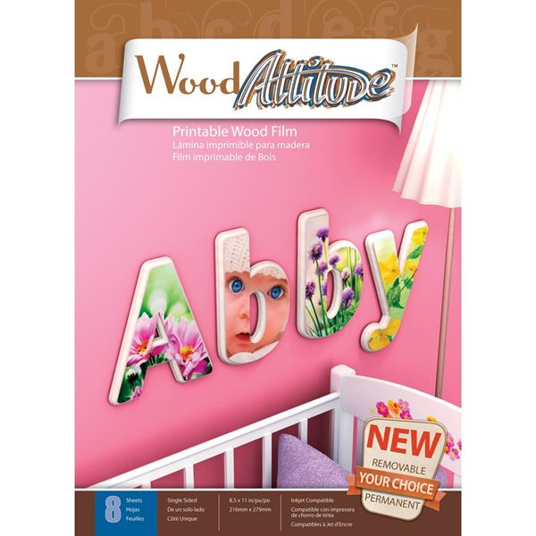 "Picture of Wood Attitude 8.5""X11"" Sheets 8/Pkg"