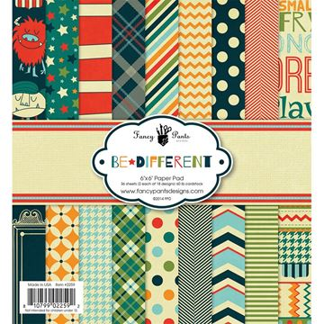 "Picture of Fancy Pants Designs Paper Pad 6""X6"" 36/Pkg-Be Different"