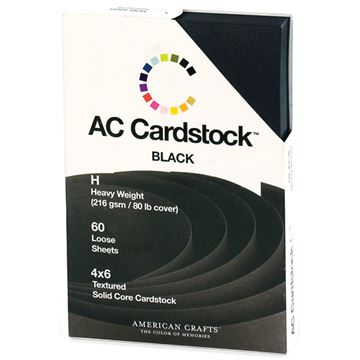 """Picture of American Crafts Cardstock Pack 4""""X6"""" 60/Pkg-Black"""