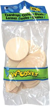Picture of Woodsies Shapes 30/Pkg-Teardrops/Circles/Ovals