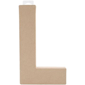 "Picture of Paper-Mache Letter 8""X5.5""-Letter L"