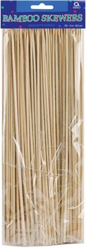 """Picture of Bamboo Skewers 12"""" 100/Pkg-Natural"""