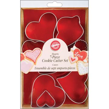 Picture of Metal Cookie Cutter Set 6/Pkg-Hearts