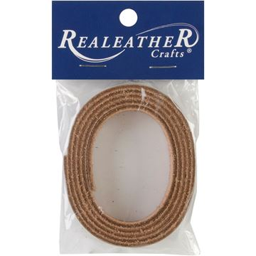 """Picture of Leather Strip .5""""X36""""-Medium Brown"""