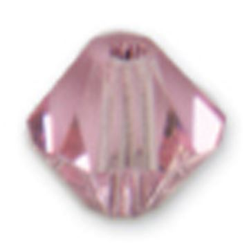 Picture of Swarovski Crystal Beads 4mm Bicone 14/Pkg-Light Rose