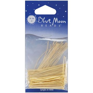 Picture of Blue Moon Value Pack Metal Findings-Thin Head Pins Gold 160/Pkg Asst.