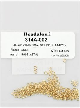 Picture of Jump Rings 3mm 144/Pkg-Gold