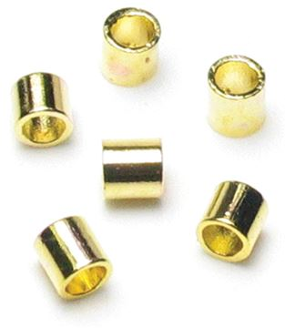 Picture of Jewelry Basics Metal Findings 500/Pkg-Gold Crimp Tubes 2mm