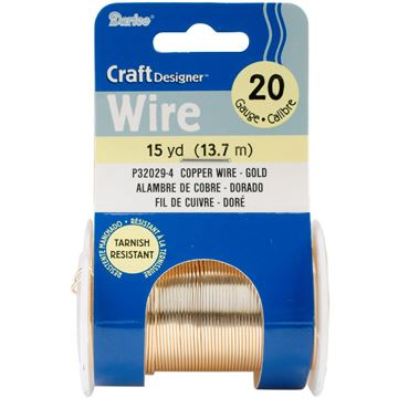 Picture of Beading Wire 20 Gauge 15yd/Pkg-Gold Colored Copper Wire