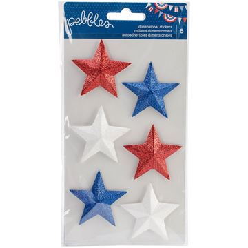 Picture of Americana Dimensional Stickers-Stars