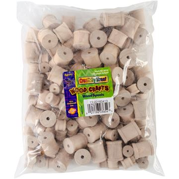 Picture of Wooden Spools Assorted Sizes 144/Pkg-Natural