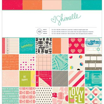 """Picture of American Crafts Paper Pad 12""""X12"""" 48/Pkg-Shimelle"""