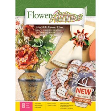 "Picture of Floral Attitude 8.5""X11"" Sheets 8/Pkg"